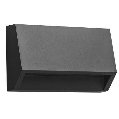Wandlamp kito-10cm zwart (incl. led)