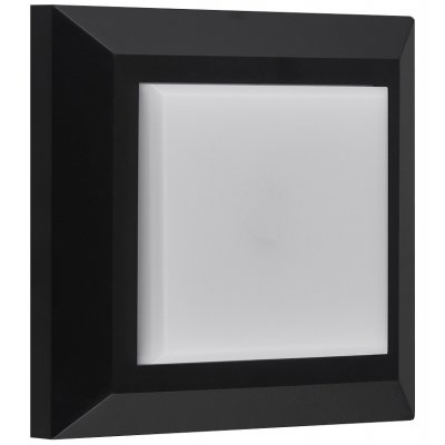 Wandlicht vierkant zwart