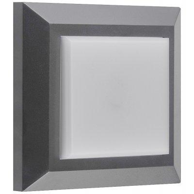 Wandlicht vierkant grijs