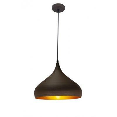 Hanglamp ronin-32cm bruin/goud (excl. lamp)