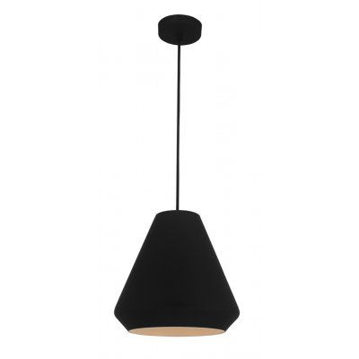 Hanglamp ubbe-25cm zwart/wit (excl. lamp)