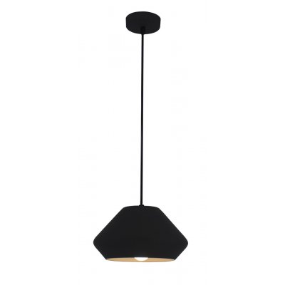 Hanglamp ubbe-24cm zwart/wit (excl. lamp)