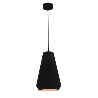 Hanglamp ubbe-20cm zwart/wit (excl. lamp)