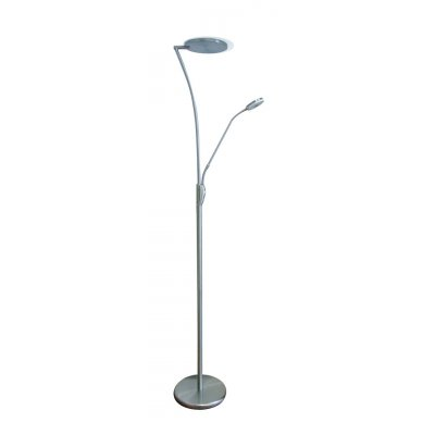 Staanlamp cales satin/chroom (incl. led)