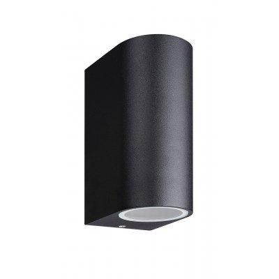 Wandlamp flux r-15cm zwart (excl. lamp)