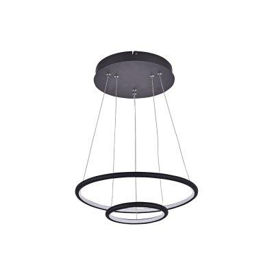 Hanglamp annu-2 ringen zwart ((incl. led) 40cm