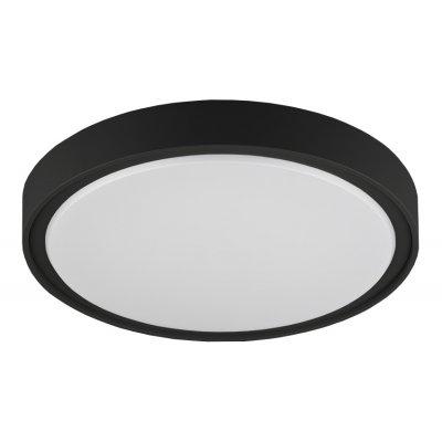 Plafondlamp qijo-26cm rond zwart  (incl. led)