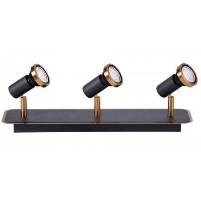 Plafondlamp xzibit-3 zwart/brons (incl. led)