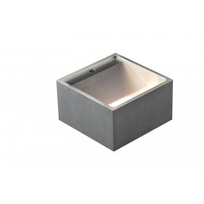 Wandlamp niobe aluminium (incl. led)