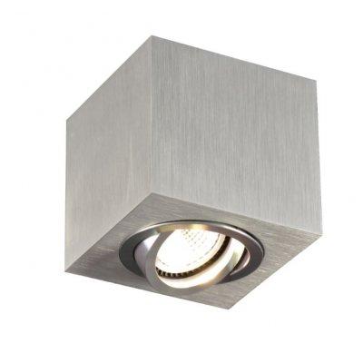 Plafondlamp olala vierkant aluminium (excl. lamp)