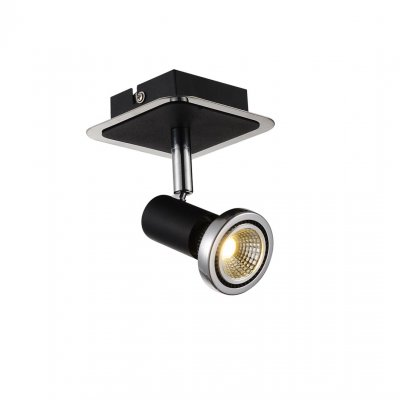 Plafondlamp xzibit-1 zwart (incl. led)