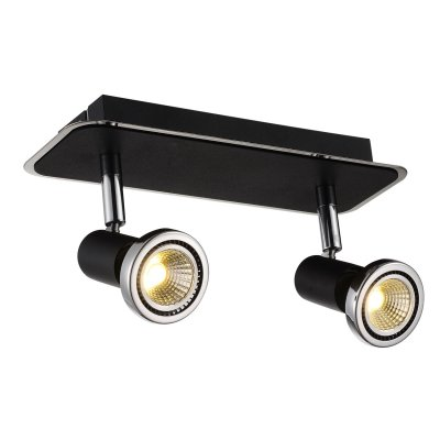 Plafondlamp xzibit-2 zwart (incl. led)