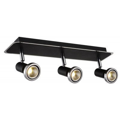 Plafondlamp xzibit-3 zwart (incl. led)
