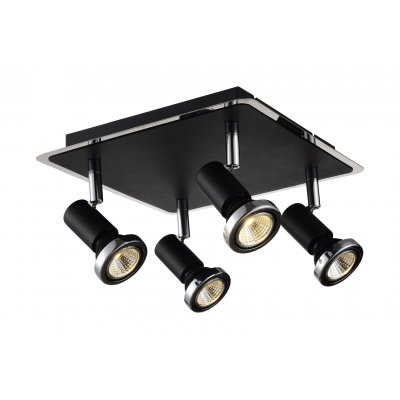 Plafondlamp xzibit-4 zwart (incl. led)