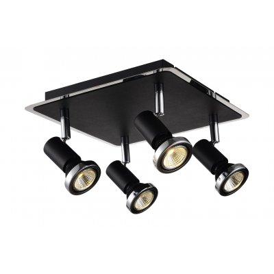 Xzibit plafondlamp spot 4  zwart incl.led gu10 5w