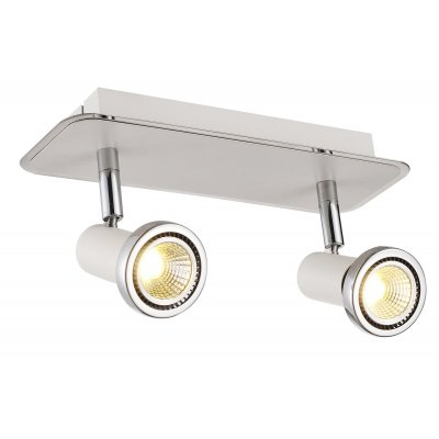 Xzibit plafondlamp spot 2  wit incl.led gu10 5w
