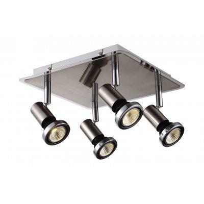 Xzibit plafondlamp spot 4 satin incl.led gu10 5w