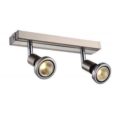 Plafondlamp robus-2 satin (incl. led)