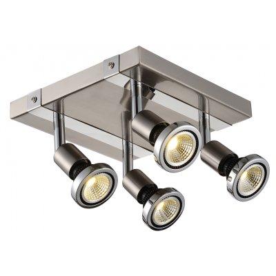 Plafondlamp robus-4 satin (incl. led)