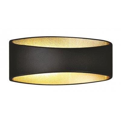 Wandlamp myra zwart/goud (incl. led)