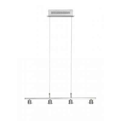 Hanglamp nikkel/chroom (incl. led)
