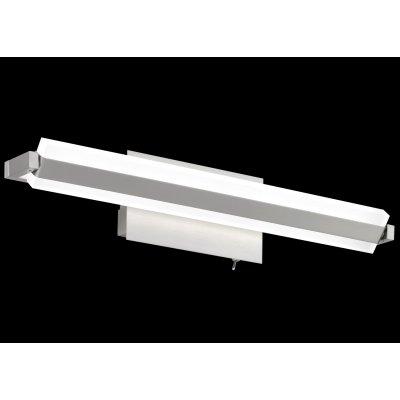 Wandlamp-1 nikkel/wit (incl. led)