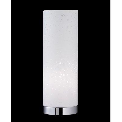 Tafellamp chroom/wit (excl. lamp)