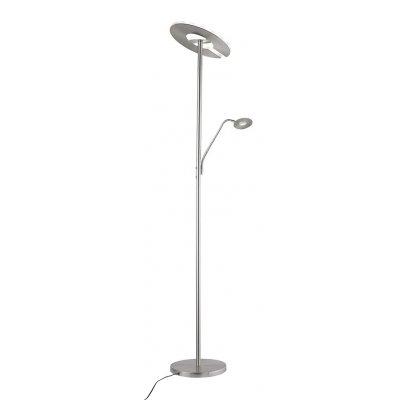 Staanlamp nikkel (incl. led)