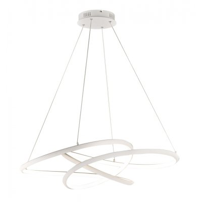 Hanglamp galaxy wit mat 1 lichts, 63cm breed, incl. 1 x led 52w