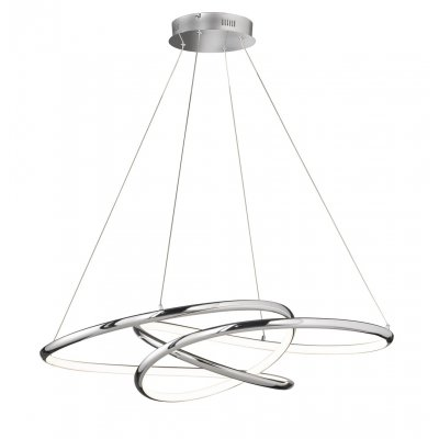 Hanglamp galaxy chroom led incl. 1 x led 52w