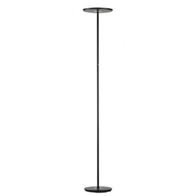 Staanlamp zwart/chroom (incl. led)