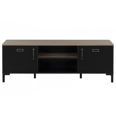Tv-meubel  2d + open vak met legger