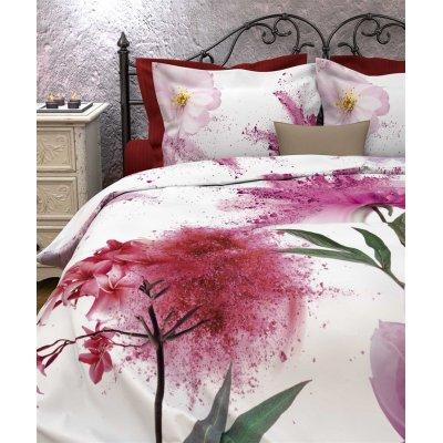 Overtrek tweepersoons limerstone roze (200x220)