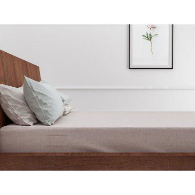 Hoeslaken lino shell nude (roze) katoen (140x200)