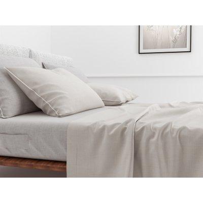 Laken lino off white katoen (270x290cm)