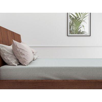 Hoeslaken lino mint green katoen tweepersoons (140x200cm)