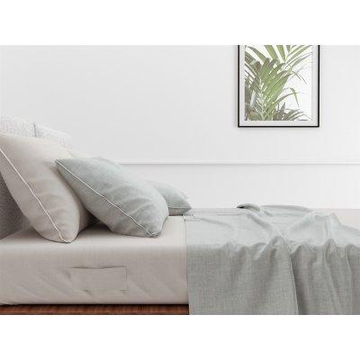 Laken lino mint green (270x290cm)