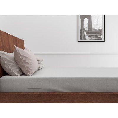 Hoeslaken lino tweepersoons dove grey katoen (160x200cm)