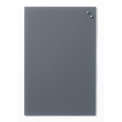 Magneetbord glas grijs (40x60cm)