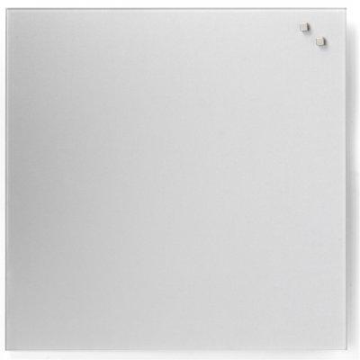 Magneetbord glas zilver (45x45cm)
