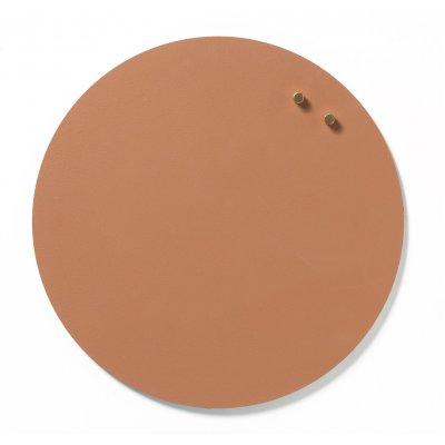 Magneetbord cirkel glas terracotta kleur (diam. 35cm)