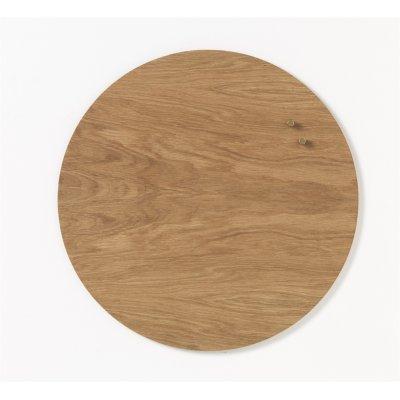 Magneetbord cirkel hout (diam. 45cm)