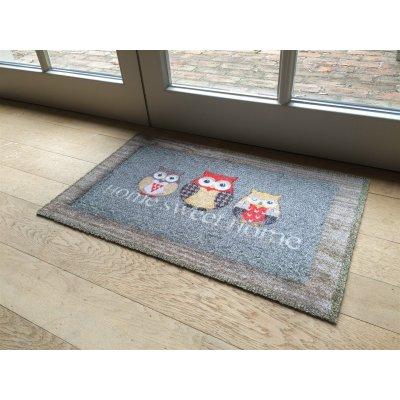 Deco soft entree voetmat home sweet home uilen 40x60cm