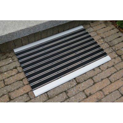 Voetmat lijnen grijs (40x60cm)