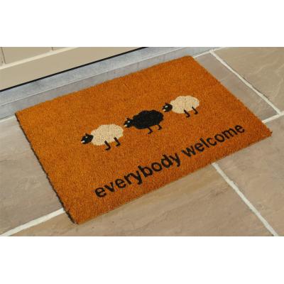 Voetmat raja everybody welcome schapen