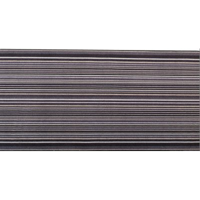 Decostar tapijtloper vertikale lijnen grijs 65x140cm