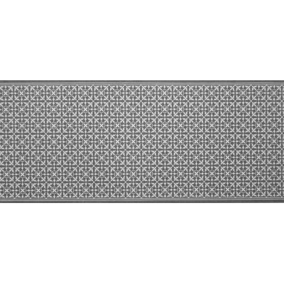 Decostar tapijtloper tegeltjes grijs 65x140cm