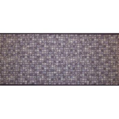 Decostar tapijtloper mozaik grijs 65x180cm