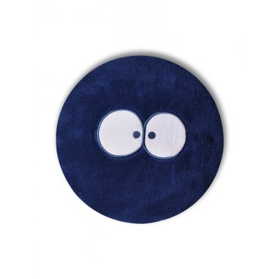 Kussen gevuld woody blauw rond