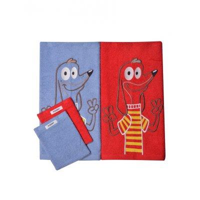 Handdoek duopack woody